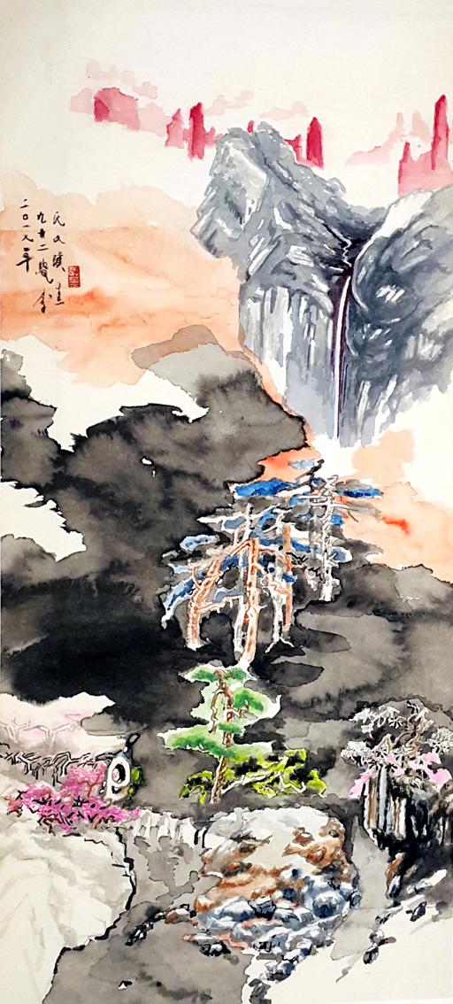 日月潭.淨月潭-同源同流美術名家聯展作品之二.jpg
