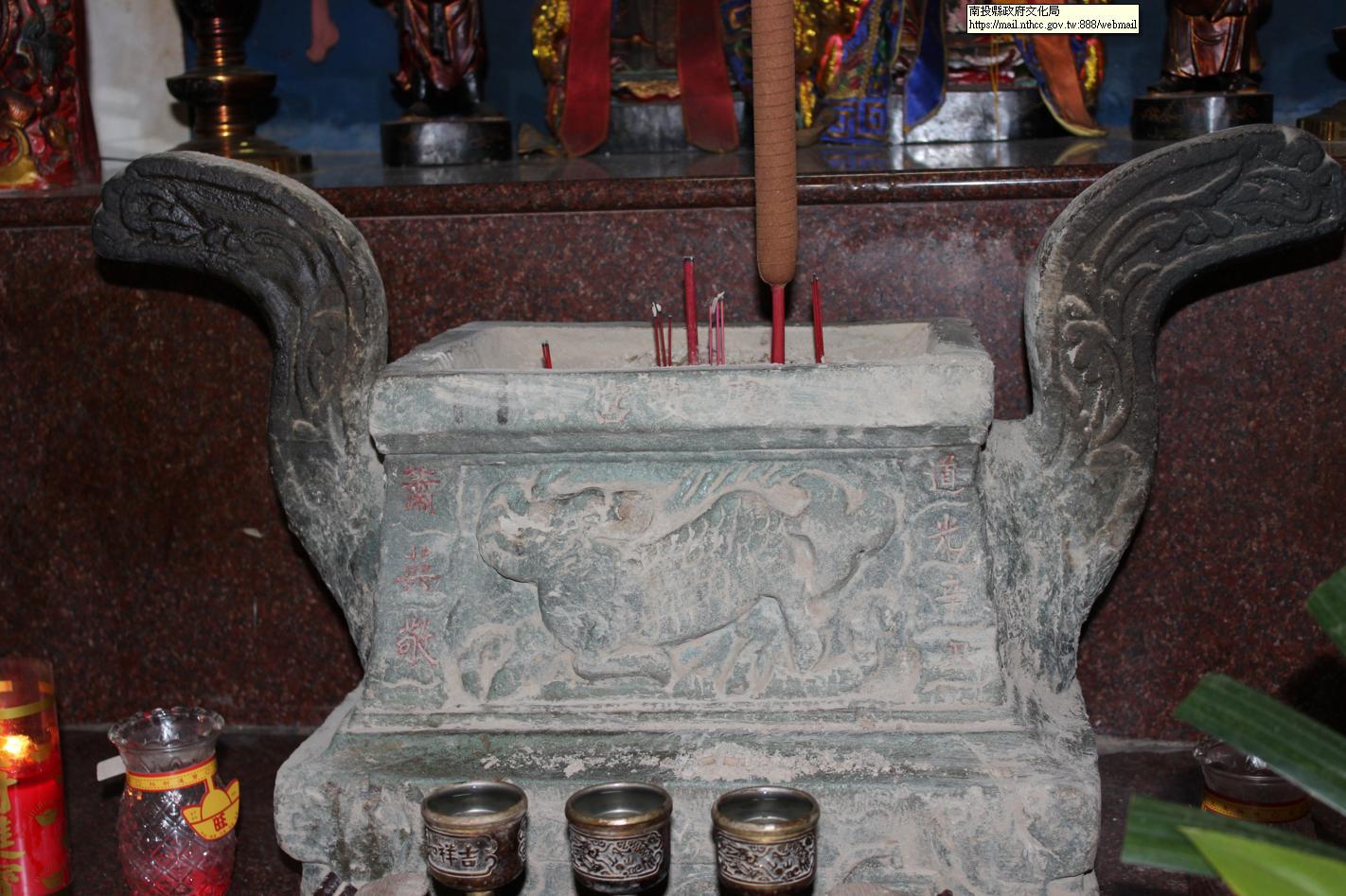 慶安宮土地公石雕香爐