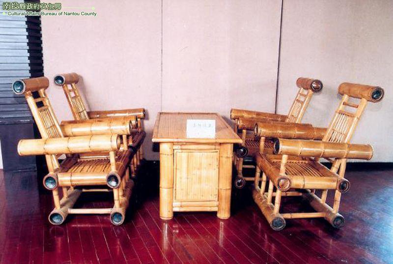 竹管几椅組